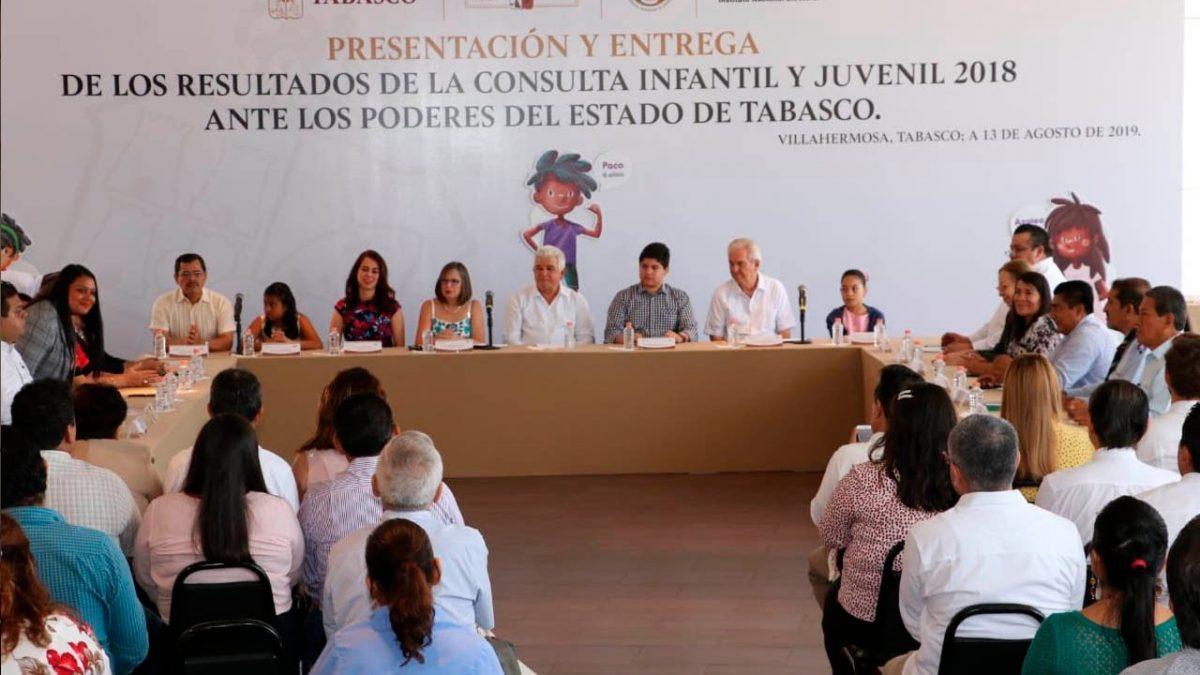 Entrega INE resultados de consulta infantil y juvenil